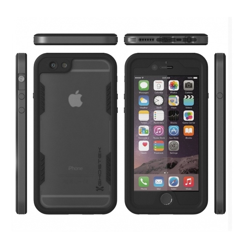 Ghostek - Atomic 2.0 Waterdicht iPhone 6/6S Plus hoesje Space Gray 03