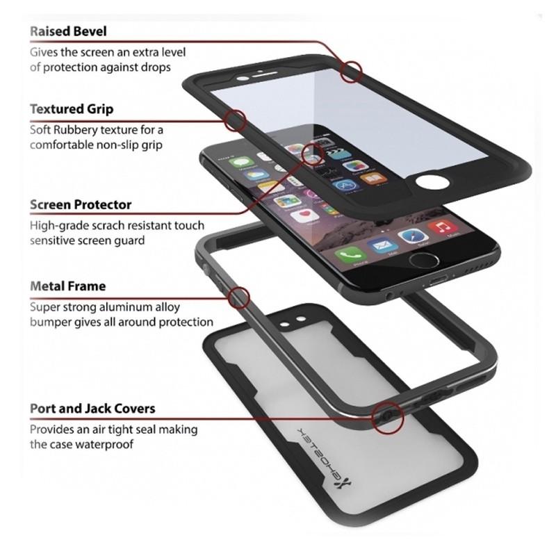Ghostek - Atomic 2.0 Waterdicht iPhone 6/6S hoesje Silver 02