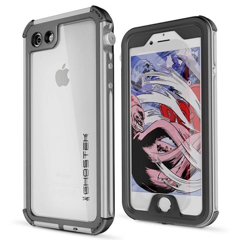 Ghostek - Atomic 3 Waterdicht iPhone 7 hoesje Silver 01