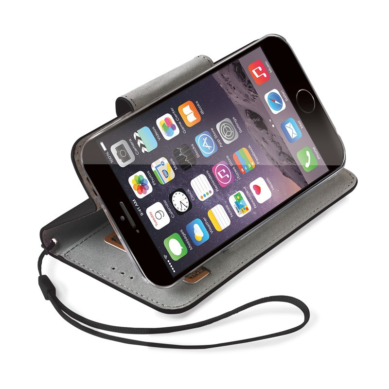 Celly Glitter Agenda iPhone 6 Black - 2