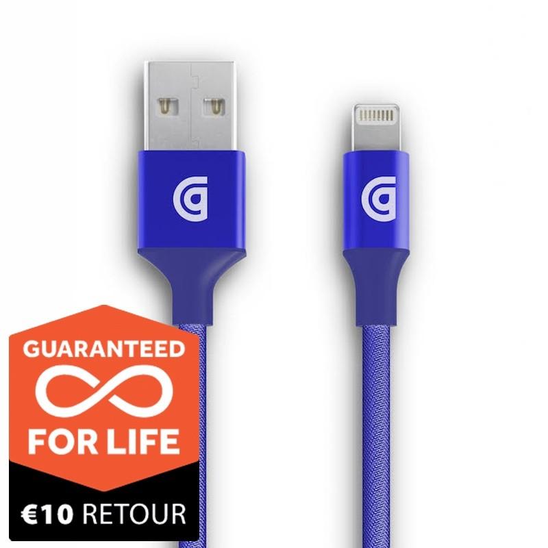 Griffin Premium USB to Lightning Kabel 1,5 meter Blauw 01