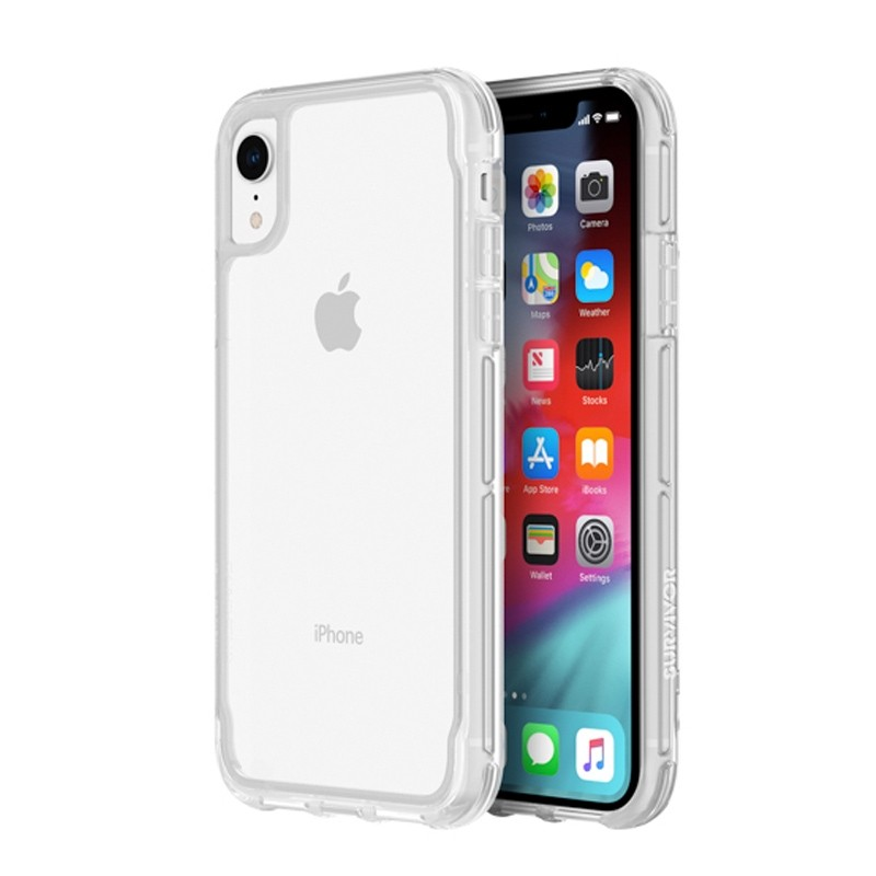 Griffin Survivor Clear iPhone XR Hoesje Transparant 01