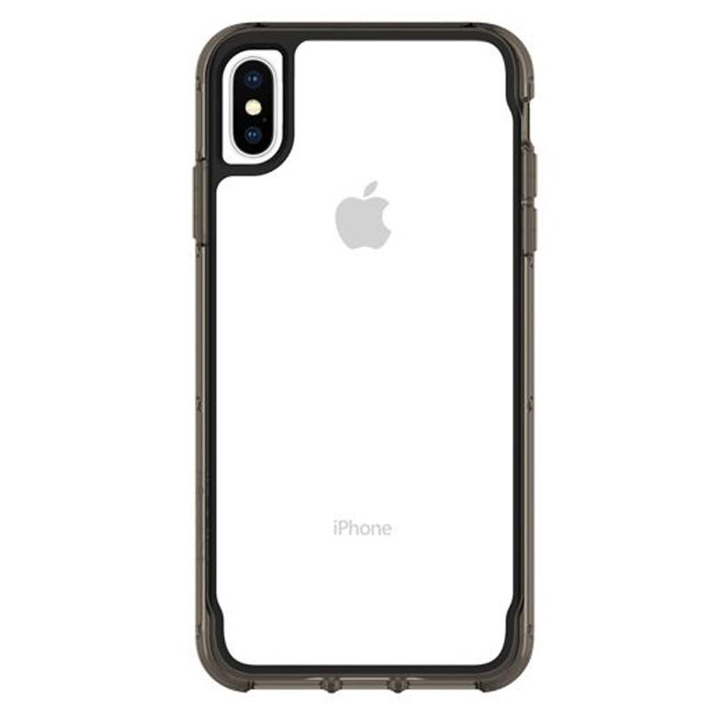 Griffin Survivor Clear iPhone XS Max Hoes Zwart Transparant 01