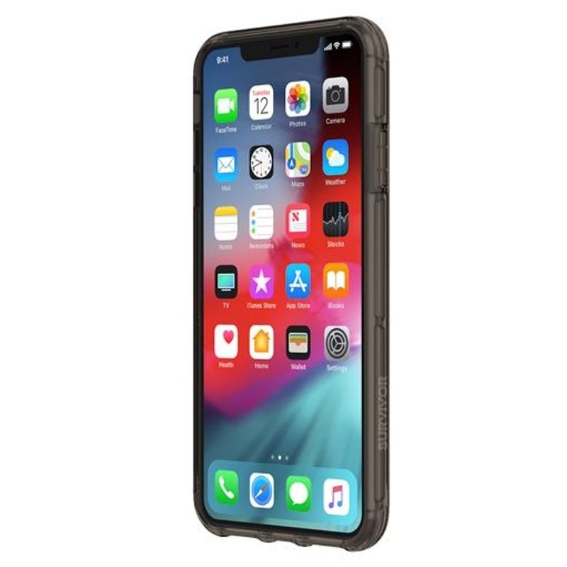 Griffin Survivor Clear iPhone XS Max Hoes Zwart Transparant 02