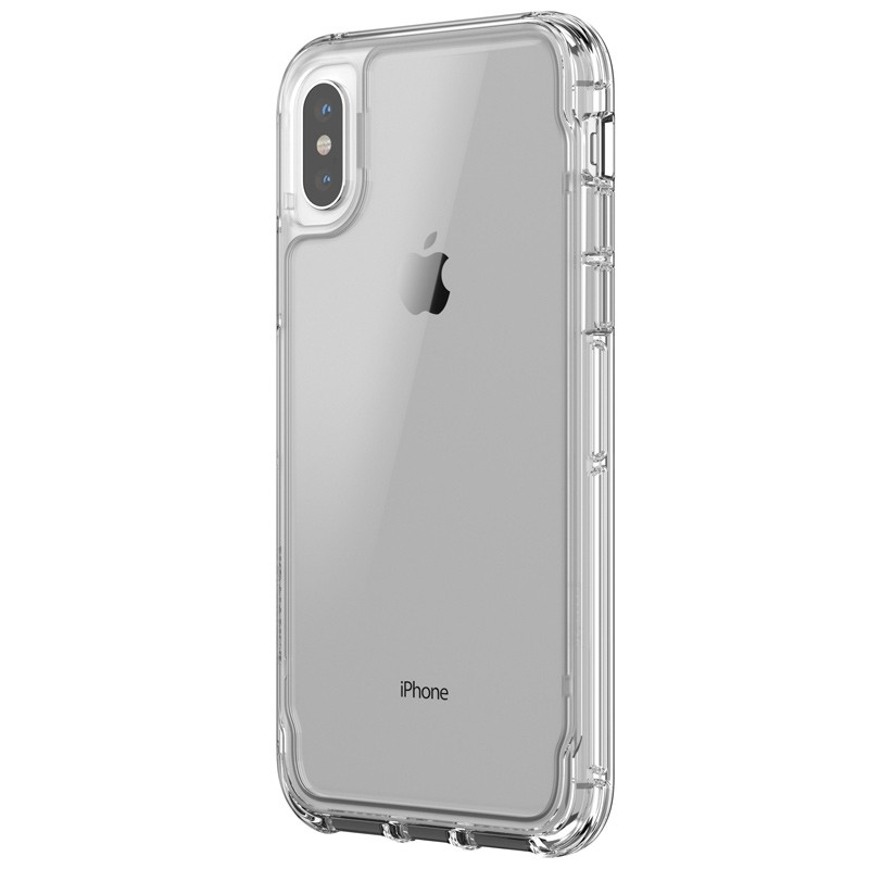 Griffin - Survivor Clear iPhone X Hoesje Transparant 01