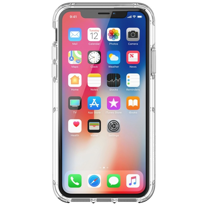 Griffin - Survivor Clear iPhone X Hoesje Transparant 05