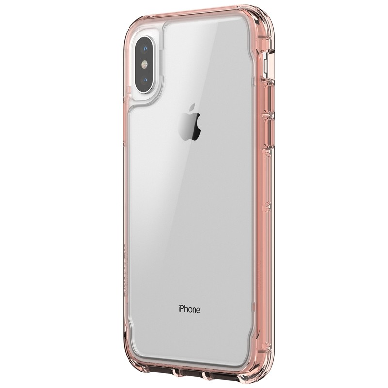 Griffin - Survivor Clear iPhone X/Xs Hoesje Rose gold 01