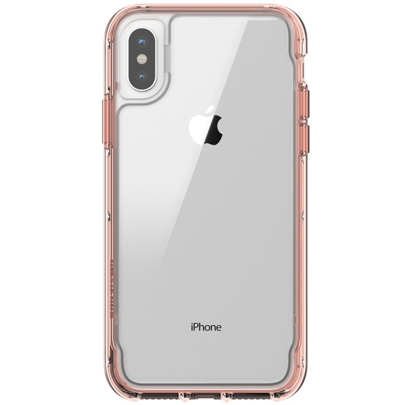Griffin - Survivor Clear iPhone X/Xs Hoesje Rose gold 02