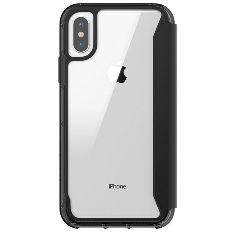 Griffin - Survivor Clear Wallet iPhone X/Xs Zwart Transparant 02