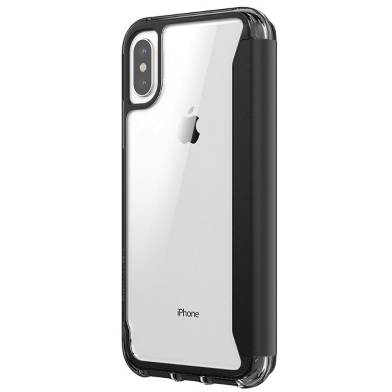 Griffin - Survivor Clear Wallet iPhone X Zwart Transparant 06