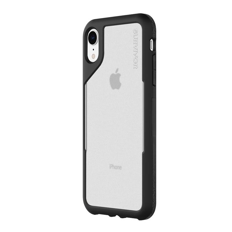 Griffin Survivor Endurance iPhone XR Case Zwart Grijs 03