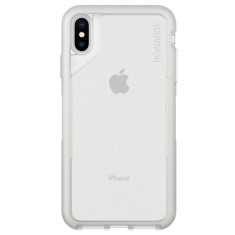 Griffin Survivor Endurance iPhone XS Max Case Grijs Transparant 01