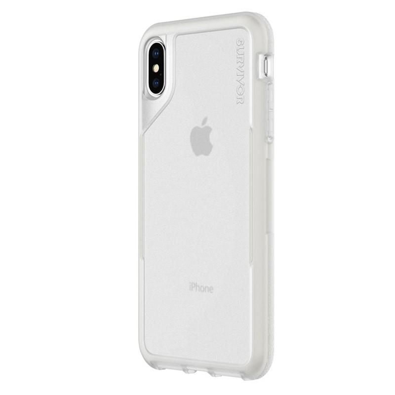 Griffin Survivor Endurance iPhone XS Max Case Grijs Transparant 03
