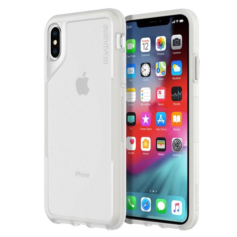 Griffin Survivor Endurance iPhone XS Max Case Grijs Transparant 04