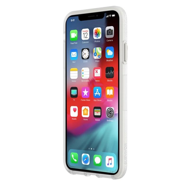 Griffin Survivor Endurance iPhone XS Max Case Grijs Transparant 02