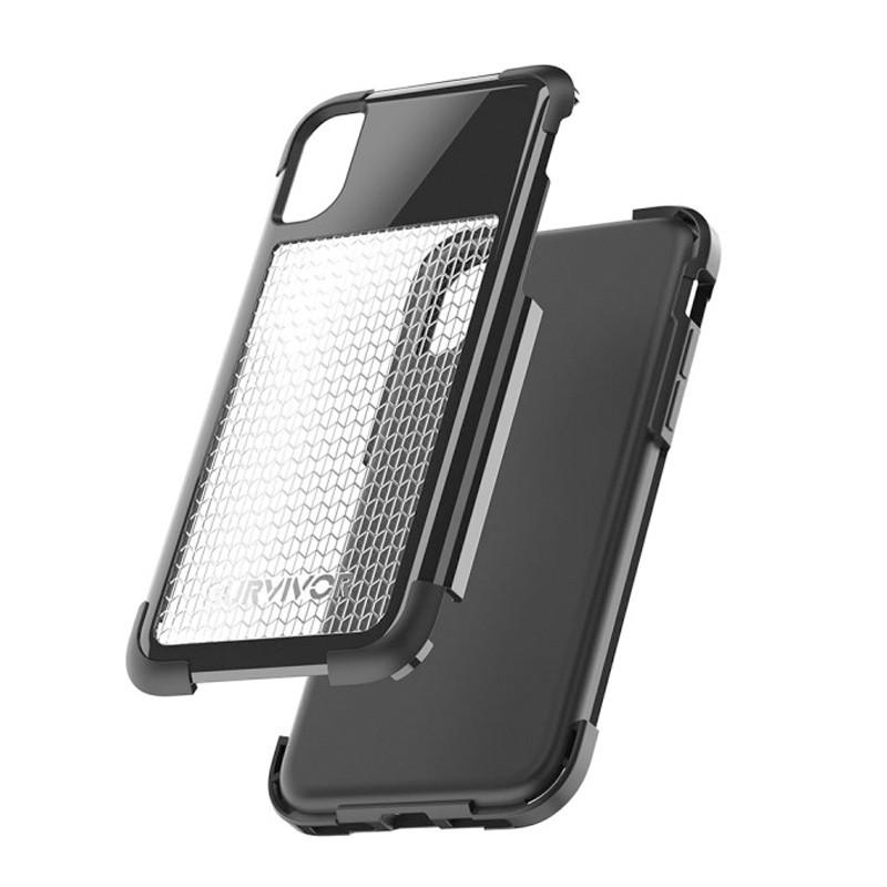 Griffin - Survivor Fit iPhone X/Xs Case Wit/Grijs 06