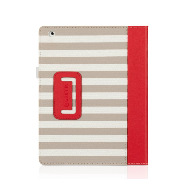 Griffin Folio Cabana iPad Red - 1