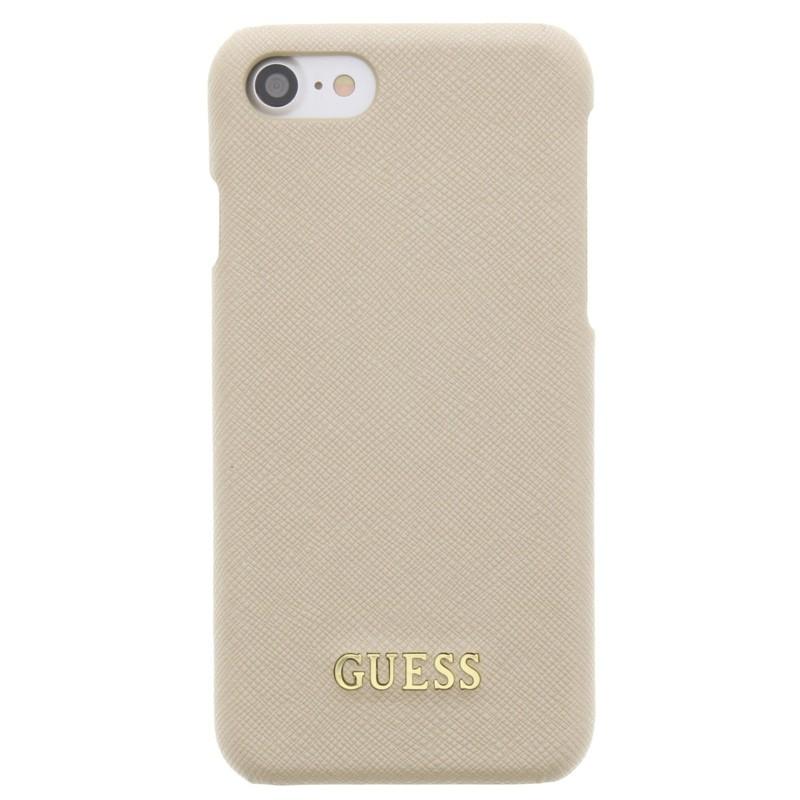 Guess - Saffiano Case iPhone 7 Beige 01