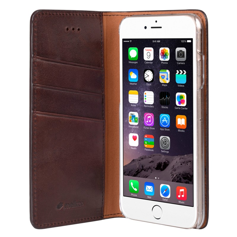 Mekco Herman Wallet Case iPhone 6/6S Dark Brown - 4