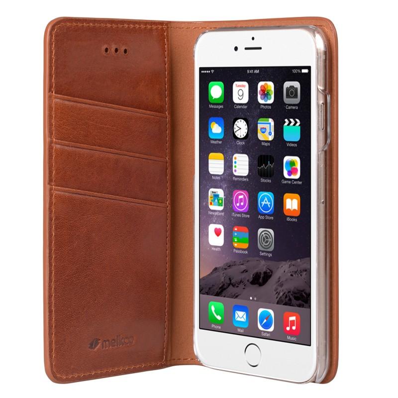 Mekco Herman Wallet Case iPhone 6/6S Tan Brown - 4