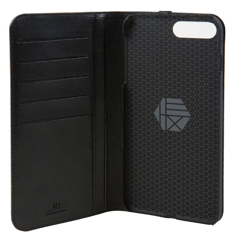 Hex Icon Wallet iPhone 7 Plus Black/Gold - 4