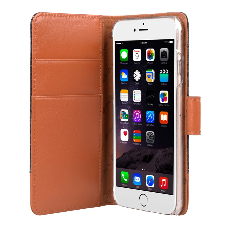 Melkco Holmes Wallet Case iPhone 6/6S Grey/Brown - 3