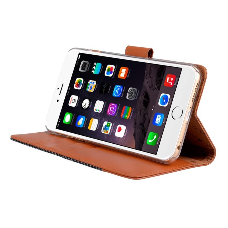 Melkco Holmes Wallet Case iPhone 6/6S Grey/Brown - 4