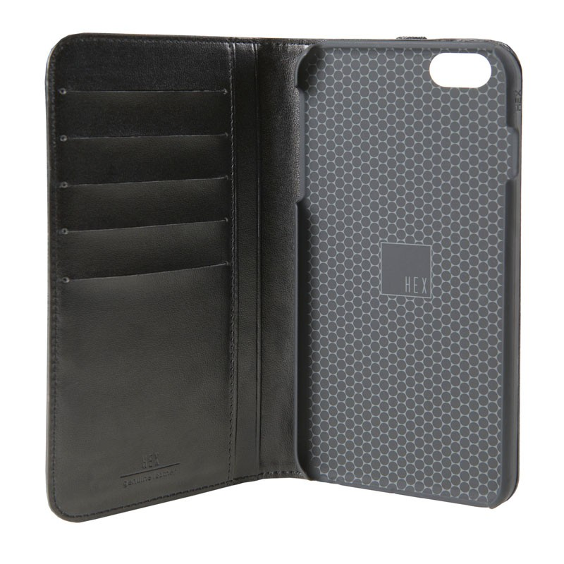 HEX Icon Wallet Case iPhone 6 Plus Black Pebbled - 4