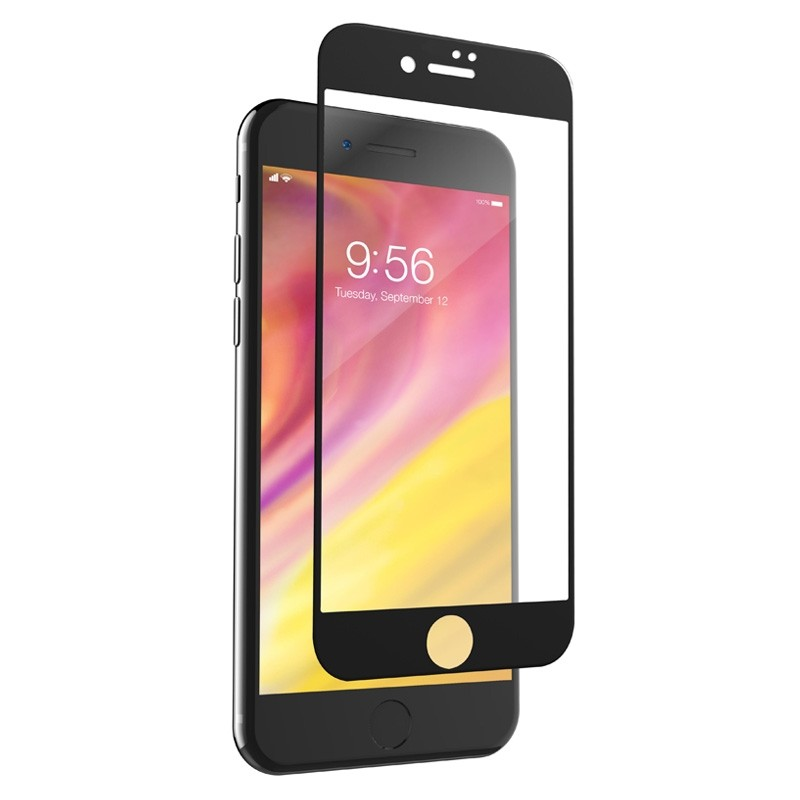 Invisible Shield Glass Edge-to-edge Screenprotector iPhone 8/7 Black - 1