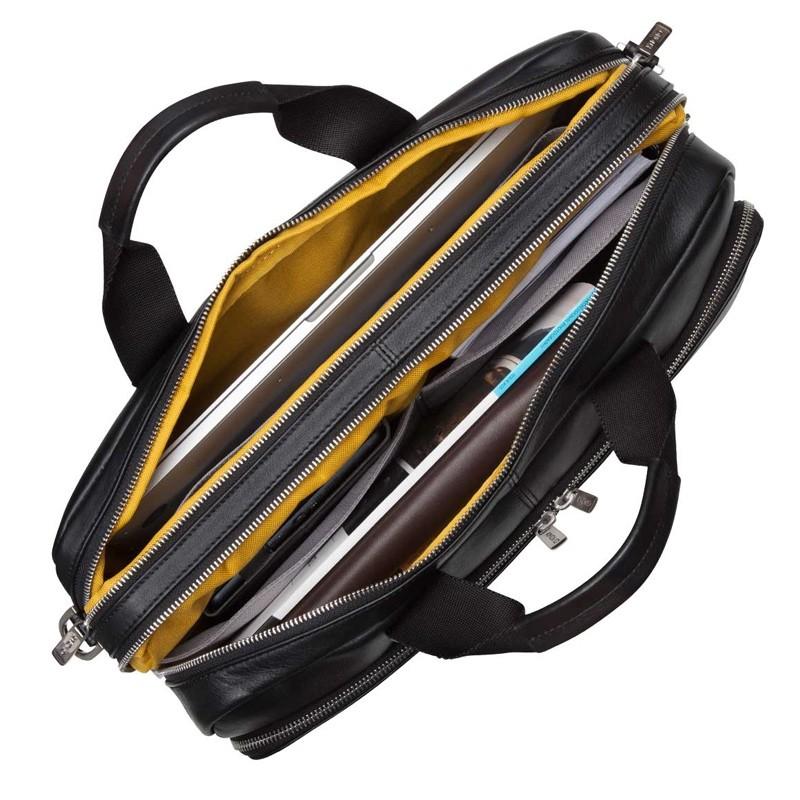 Knomo - Amesbury Lederen 15 inch Laptoptas Black 03