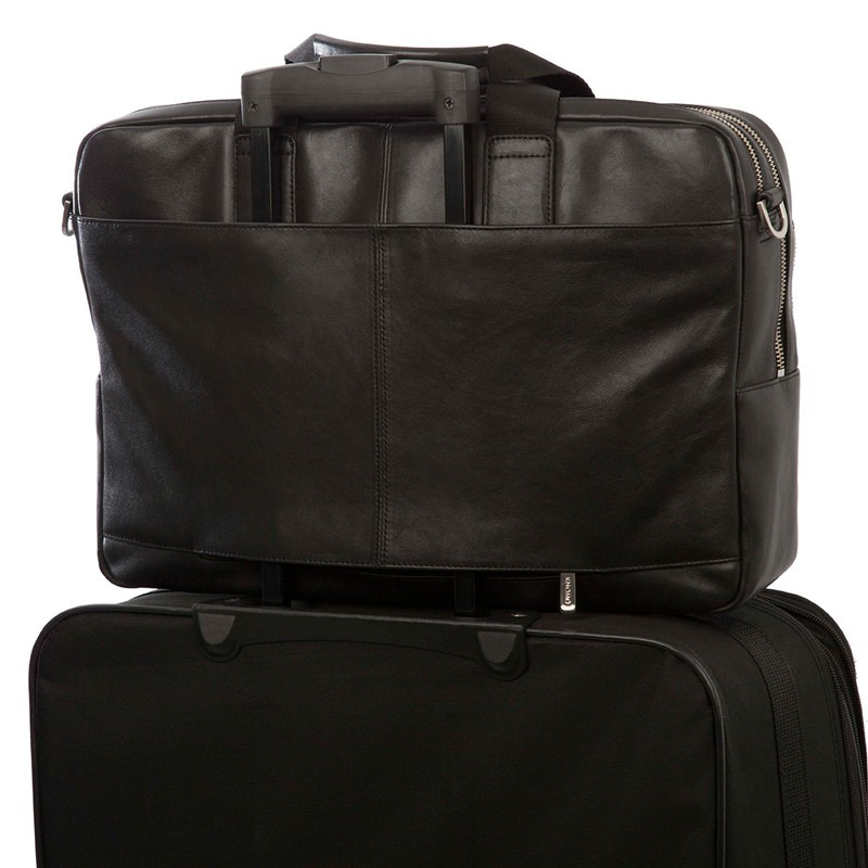 Knomo - Amesbury Lederen 15 inch Laptoptas Black 08