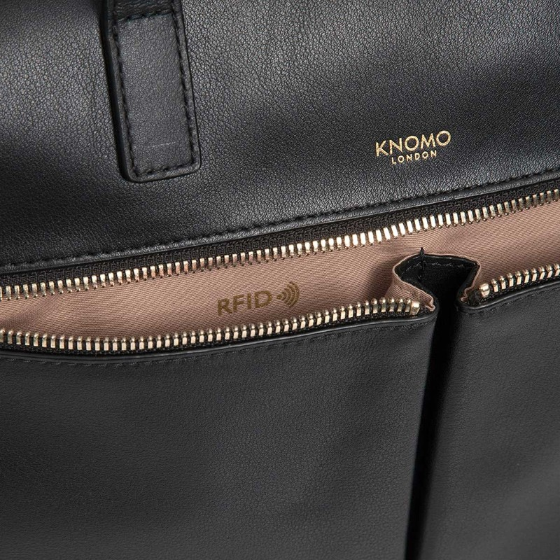 Knomo - Audley 14 inch Slim Laptoptas Black 06