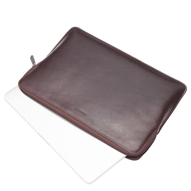 Knomo - Barbican Sleeve 15 inch Brown 03