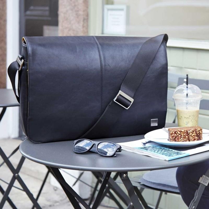 Knomo - Bungo 15,6 inch Laptop Messenger Black 11