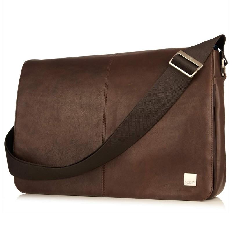 Knomo - Bungo 15,6 inch Laptop Messenger Brown 01