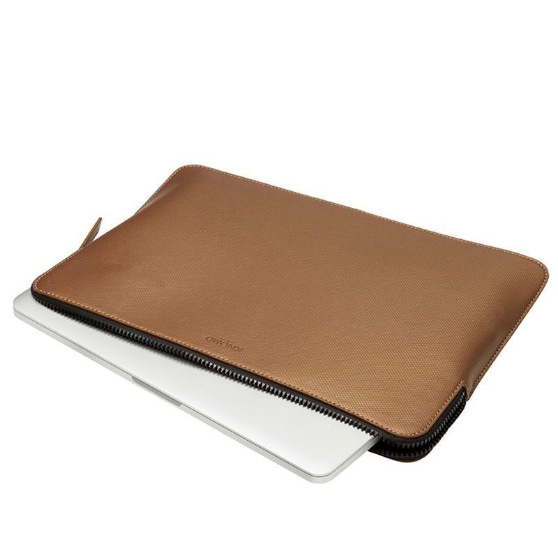 Knomo - Embossed Laptop Sleeve 12 inch Bronze 05