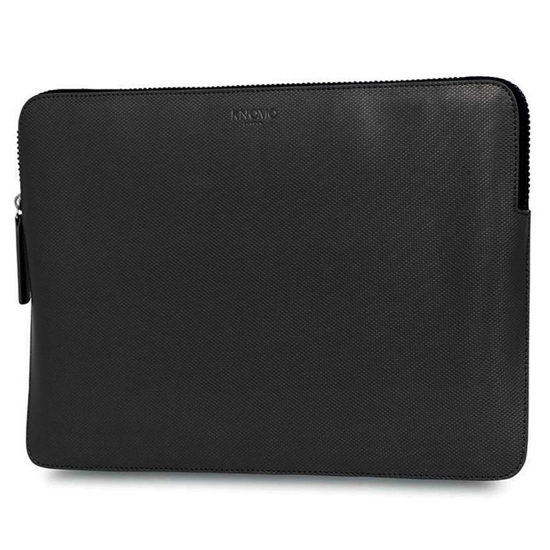 Knomo - Embossed Laptop Sleeve 13 inch Black 02