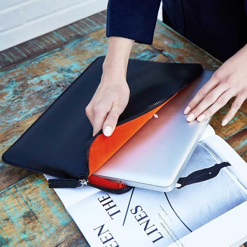 Knomo - Embossed Laptop Sleeve 13 inch Black 06