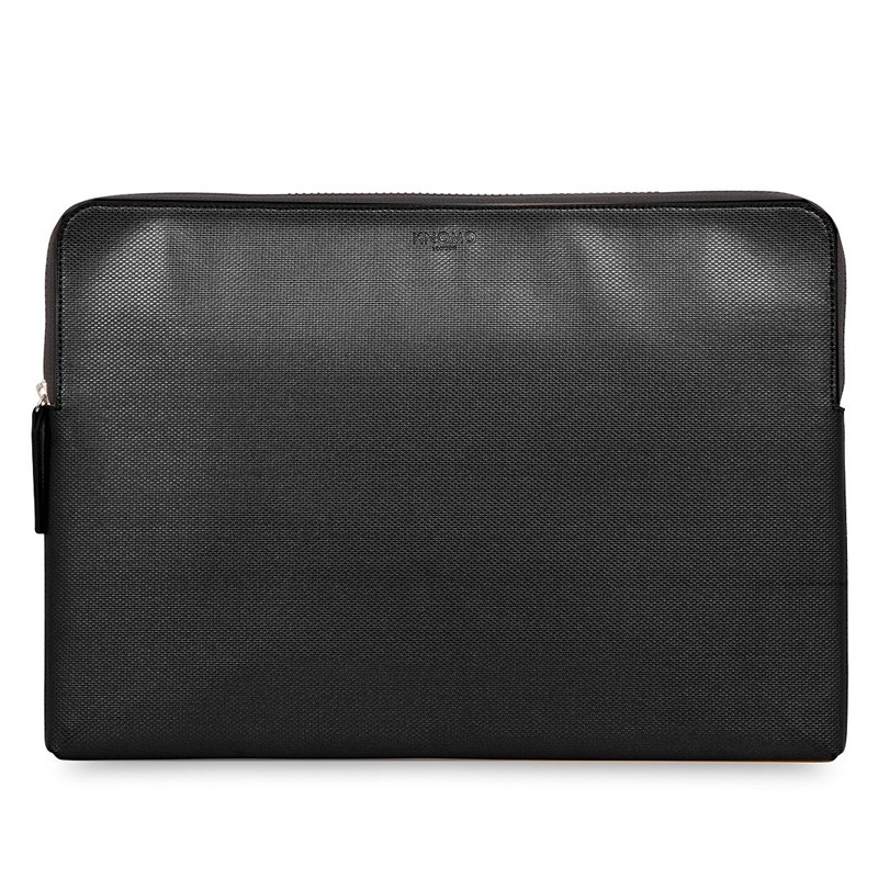 Knomo - Embossed Laptop Sleeve 15 inch MacBook Pro Black 01