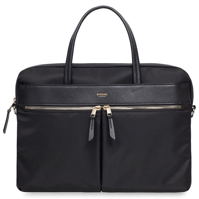 Knomo - Hanover 14 inch Slim Laptop Briefcase Black 02