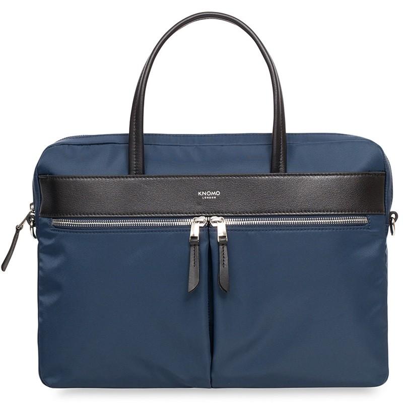 Knomo - Hanover 14 inch Slim Laptop Briefcase Navy Blue 02