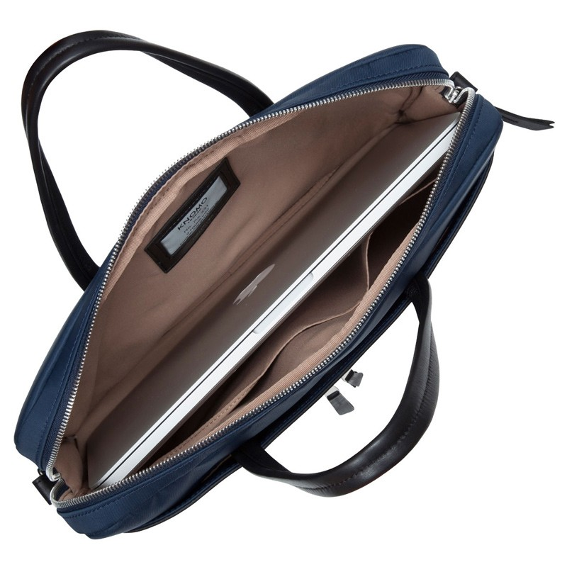 Knomo - Hanover 14 inch Slim Laptop Briefcase Navy Blue 04