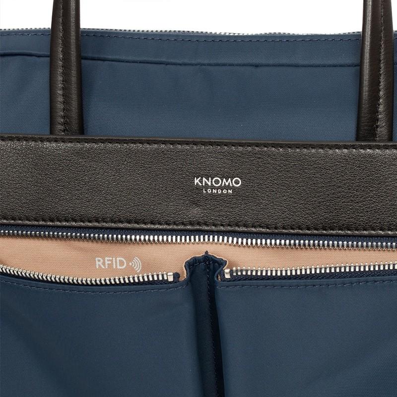 Knomo - Hanover 14 inch Slim Laptop Briefcase Navy Blue 08
