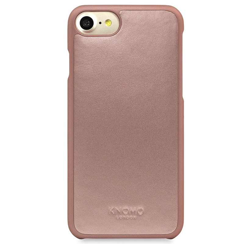 Knomo - Leather Snap On Hoes iPhone 7 Silver Rose Gold 02