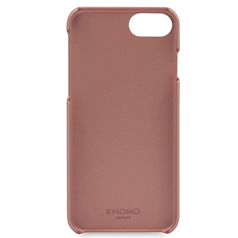 Knomo - Leather Snap On Hoes iPhone 7 Silver Rose Gold 05