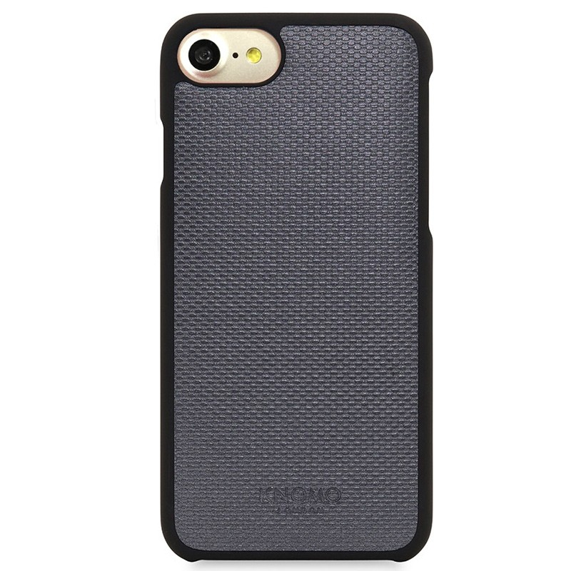 Knomo - Leather Snap On Hoes iPhone 7 Silver 02