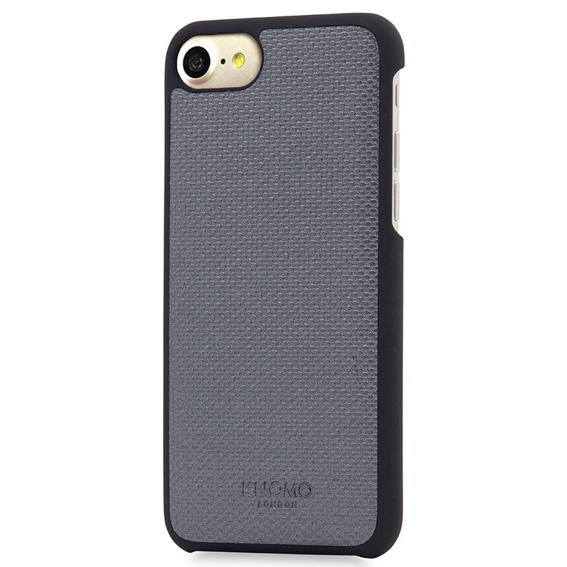 Knomo - Leather Snap On Hoes iPhone 7 Silver 01