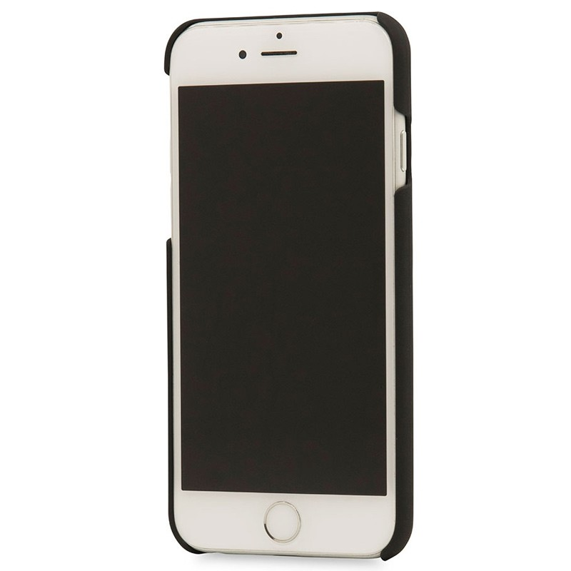 Knomo - Leather Snap On Hoes iPhone 7 Silver 04