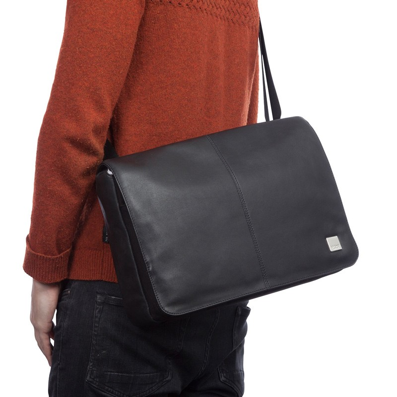 Knomo - Kinsale 13 inch Laptop Messenger Black 07