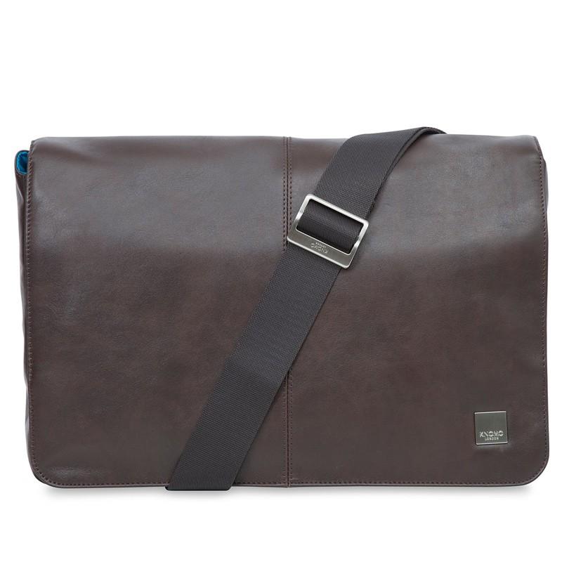 Knomo - Kinsale 13 inch Laptop Messenger Brown 01